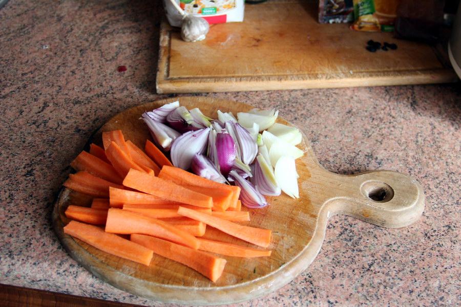 нарізка овочів
