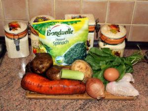 зелений борщ інгредієнти