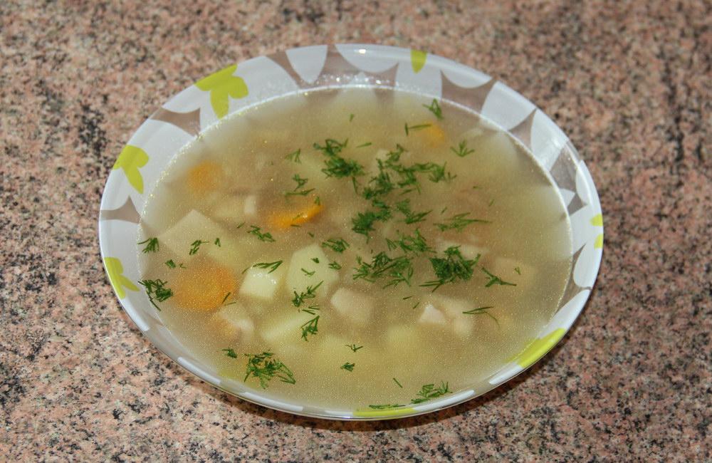 Суп із білих грибів
