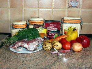 продукти на 2,5 л готового супу