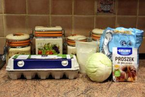 Інгредієнти для начинки капустяного пирога