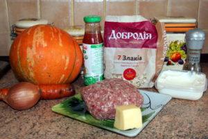 продукти на тюфтелі з гарбузом