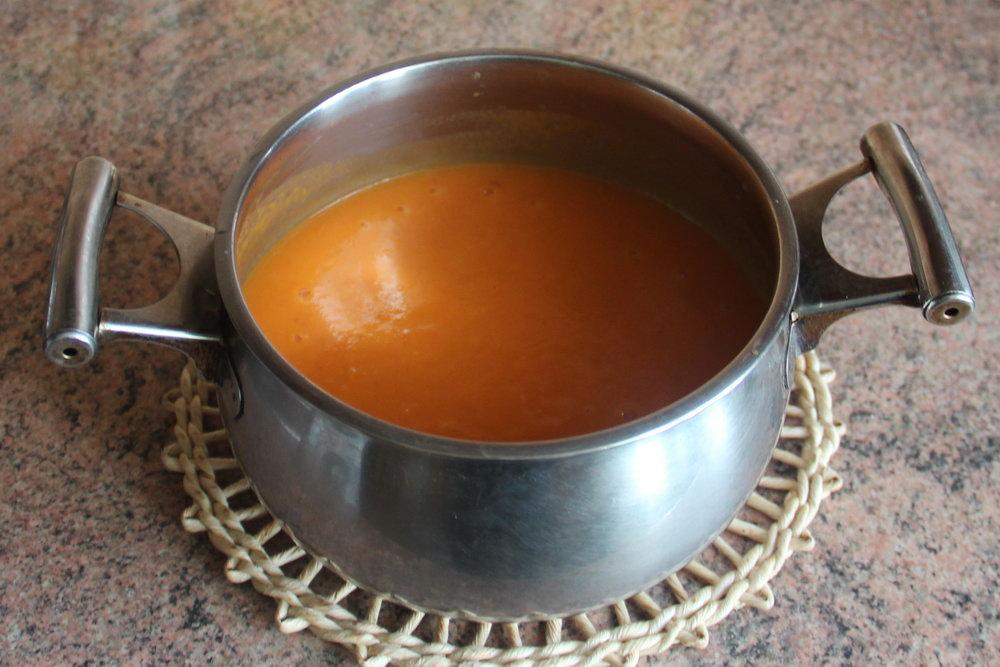суп-пюре із запеченого гарбуза