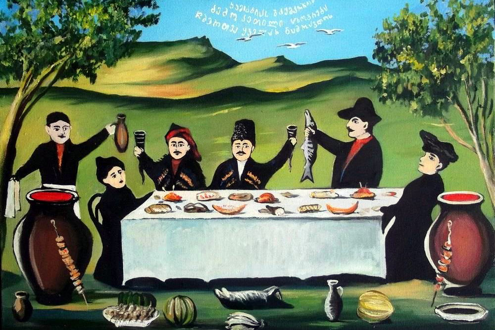 грузинське застілля